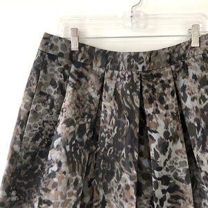 Diane von Furstenberg Pleated A Line Party Skirt